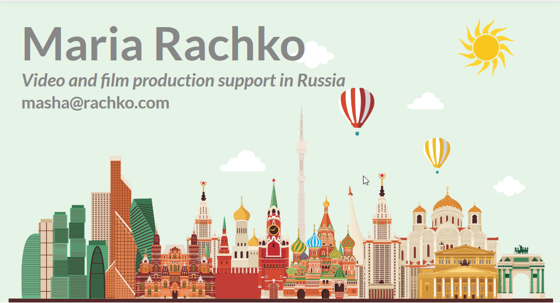 Moscow Russia fixer english speaking video producers